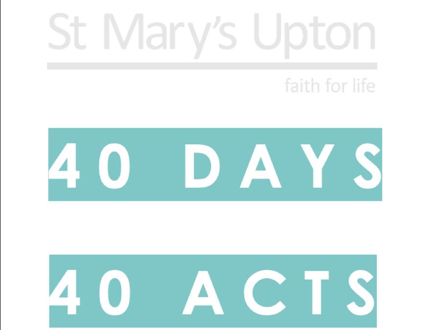 40 Days 40 Acts – Lent 2019